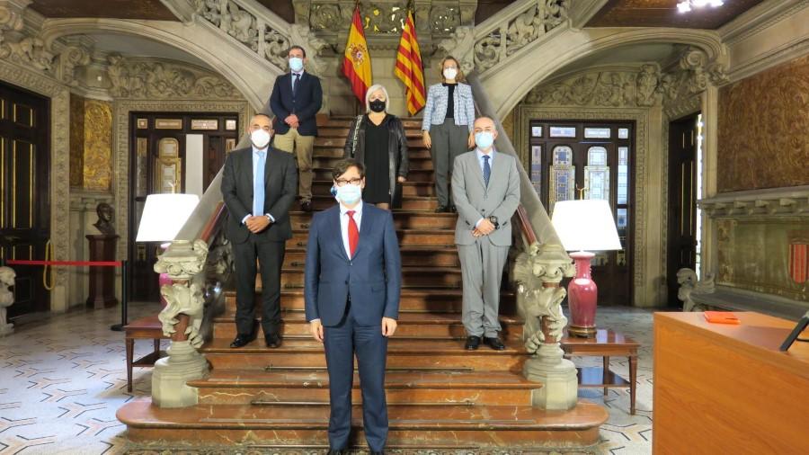 Ignacio Rubio y AEDACS con Salvador Illa Ministro de Sanidad. Propuestas para frenar los contagios por COVID19 en Barcelona