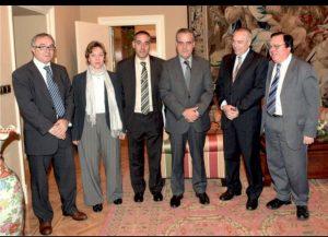 Ignacio Rubio de Egara Aeronautics visitando con Pere Navarro al ministro Corbacho. Fotos de los asistentes
